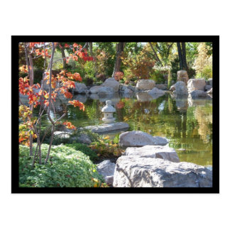 Jardin japonais carte postale