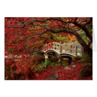 Jardin japonais Colombie-Britannique Carte De Vœux
