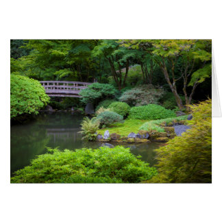 Jardin japonais, Portland, Orégon, Etats-Unis 2 Carte De Vœux