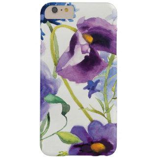 Jardin mélangé bleu et pourpre coque barely there iPhone 6 plus