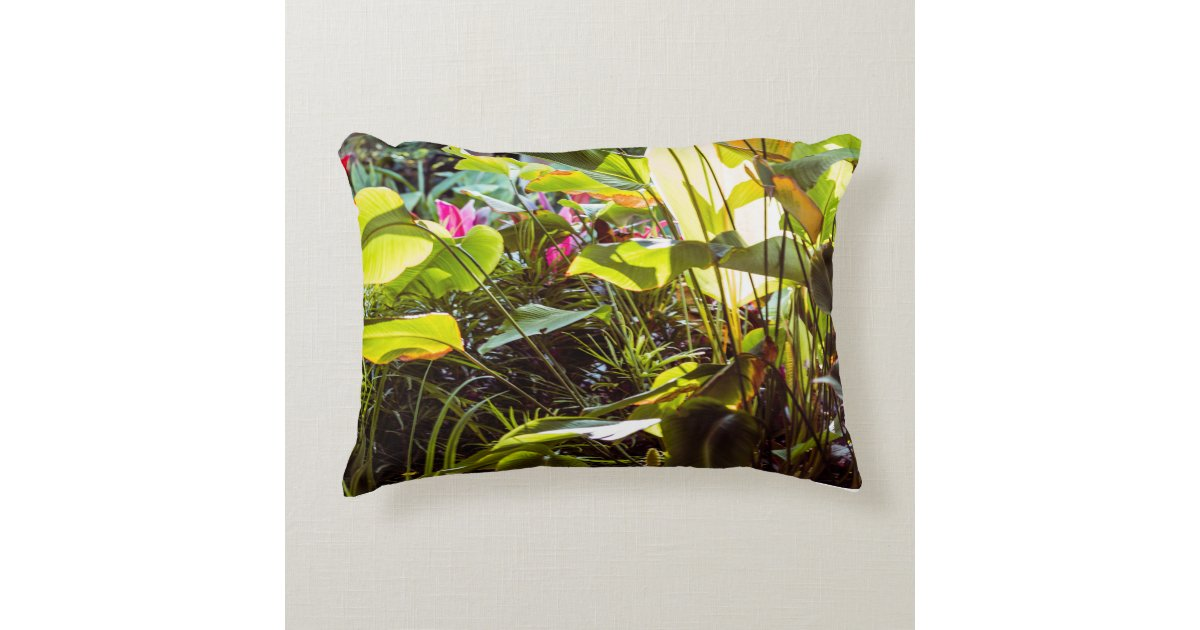Jardin tropical coussin d co zazzle for Decoration jardin tropical