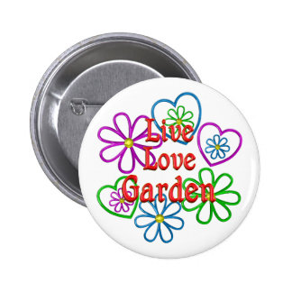 Jardin vivant d'amour badges