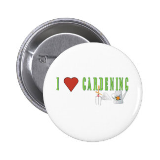 Jardinage d'amour badges