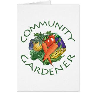 Jardinage de la Communauté Carte De Vœux