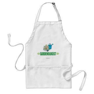 Jardinier humoristique, faisant du jardinage tablier