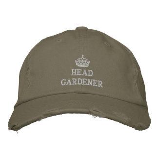 Jardinier principal avec la couronne casquette brodée