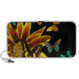 Jardins de papillon mini haut-parleurs