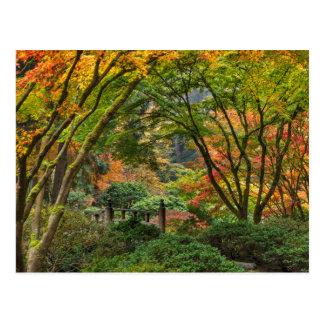 Jardins japonais en automne à Portland, Orégon 4 Carte Postale