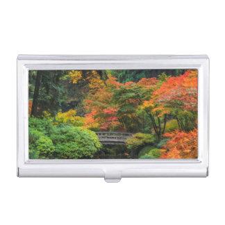 Jardins japonais en automne à Portland, Orégon 5 Boîtiers Pour Cartes De Visite