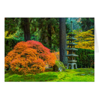 Jardins japonais en automne à Portland, Orégon Cartes