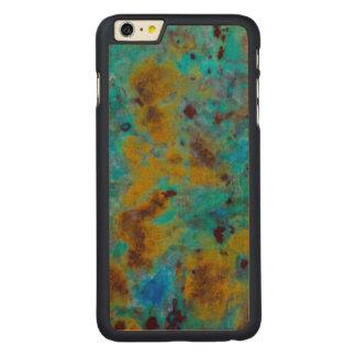 Jaspe bleu repéré de Chrysocolla Coque En Érable iPhone 6 Plus