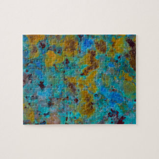 Jaspe bleu repéré de Chrysocolla Puzzle