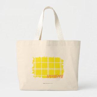 Jaune 3 de plaid grand sac
