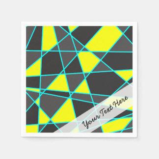 jaune au néon lumineux géométrique et en bon état serviettes en papier