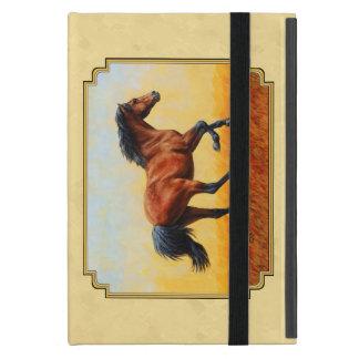 Jaune courant de cheval de baie étui iPad mini