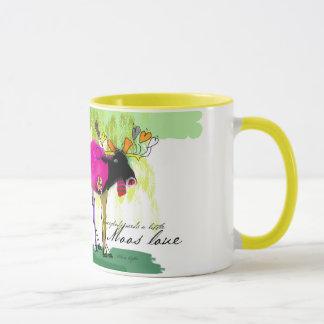 Jaune d'amour de Moos tasse combinée de 11 onces