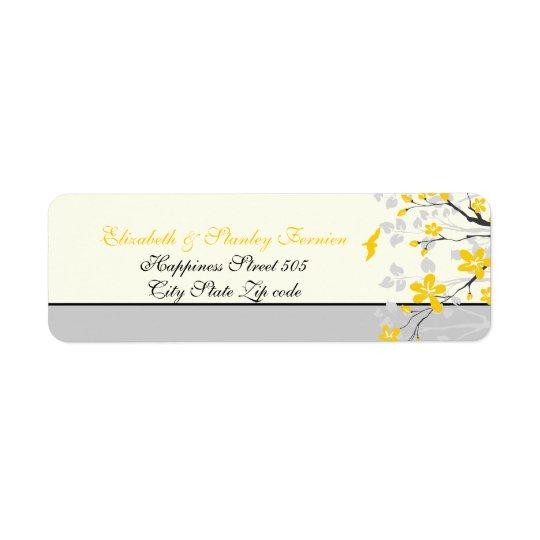 Jaune de branche de magnolia, étiquette fait sur