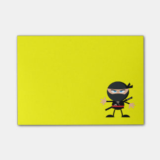Jaune de guerrier de Ninja de bande dessinée