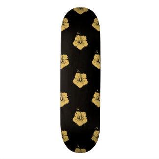Jaune de Misted du motif de fleur 3 Skateboards Personnalisés