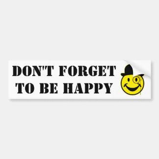 Jaune de monsieur Smiley + votre backg. et idées Autocollant De Voiture
