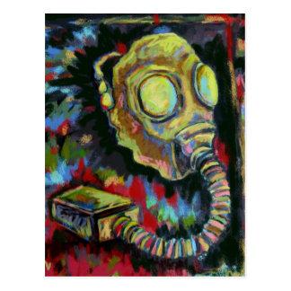 Jaune de moutarde, produits d'art de masque de gaz carte postale