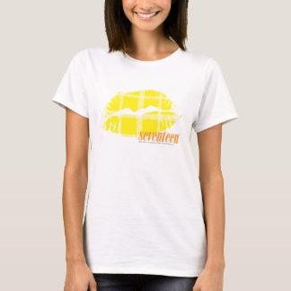 Jaune de plaid t-shirt