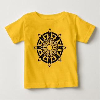 Jaune de T-SHIRT de concepteurs avec le mandala