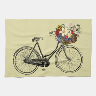 Jaune de vélo de fleur de bicyclette de serviette