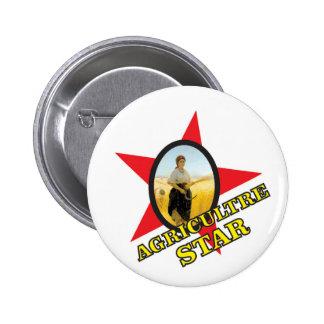 jaune d'étoile d'agriculture badge