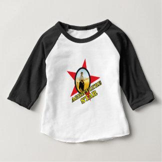 jaune d'étoile d'agriculture t-shirt pour bébé