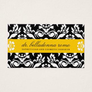jaune d'or de la damassé 311-Belladonna Cartes De Visite