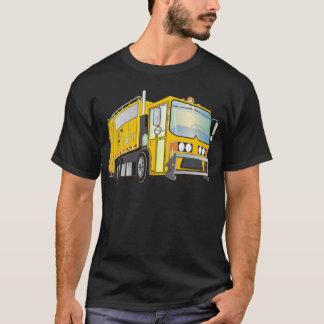 jaune du camion à ordures 3d t-shirt