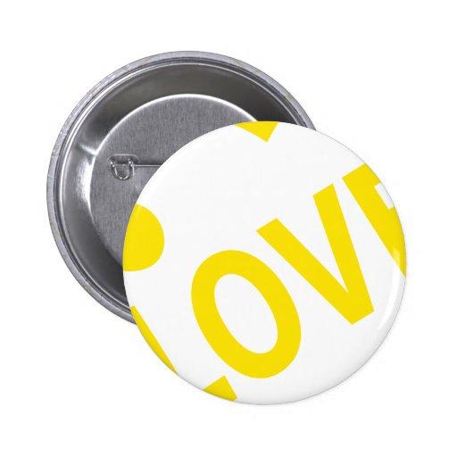 Jaune du coeur 1 d'amour badge avec épingle