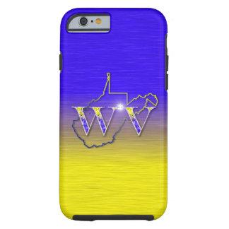 Jaune et bleu de WV Coque Tough iPhone 6