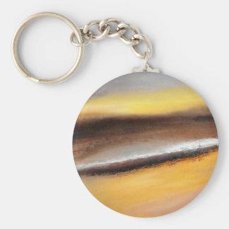 Jaune et porte - clé abstrait de bouton de Brown Porte-clés