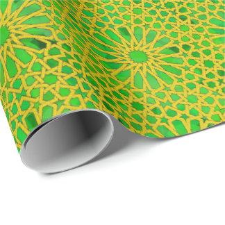 Jaune et vert de Tirazut Papier Cadeau