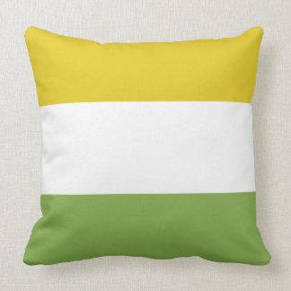 Jaune et vert ensoleillés de ressort oreiller