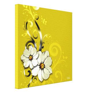 Jaune floral fleuri du Flourish | Toile Tendue Sur Châssis