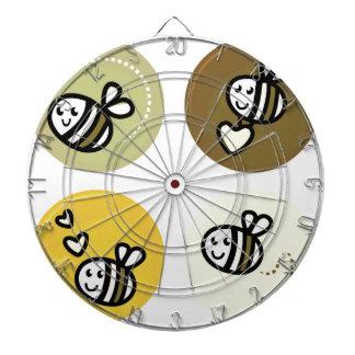 Jaune merveilleux d'abeilles de vol cible de fléchettes