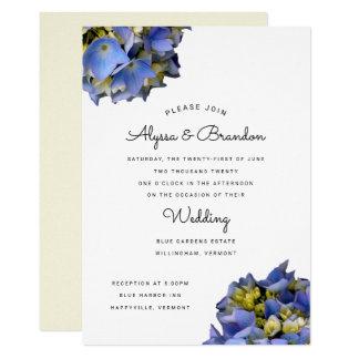 Jaune moderne bleu de faire-part de mariage d'été