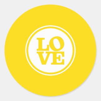 Jaune moderne de typographie de tache de JOINT Sticker Rond