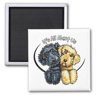 Jaune noir IAAU de Labradoodles Magnet Carré