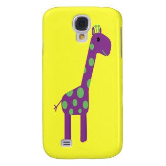Jaune personnalisable mignon de girafe pourpre et