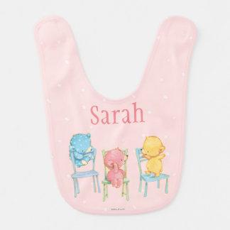 Jaune, rose, et bleu concerne des chaises bavoir pour bébé