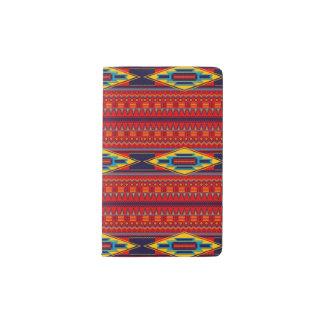 Jaune rouge d'Africain de Kente de motif abstrait Protège-carnet De Poche