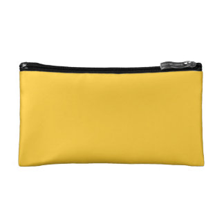 Jaune simple trousse de maquillage