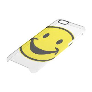 Jaune souriant drôle + votre backg. et idées coque iPhone 6/6S
