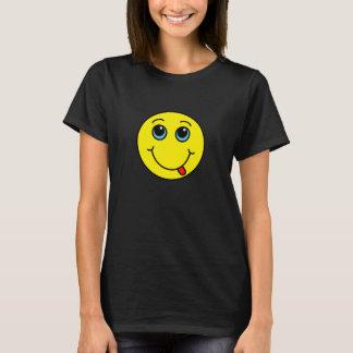 Jaune souriant idiot de visage t-shirt