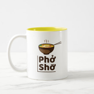 Jaune unique de tasse de Pho Sho de Ramen