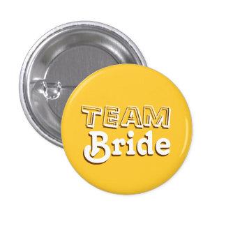 Jaune vintage et goupilles de mariage de jeune badge rond 2,50 cm